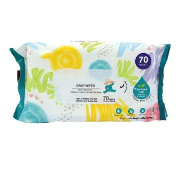 Daily alcohol free disinfectant hand wipes clean cans packing 72pcs wet wipes