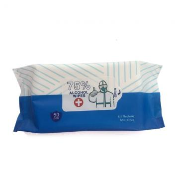 Manufacturer Container Cleaning Nonwoven Dispenser Push Clean 75% Alcoholic Bucket Wet Wipes with Logo