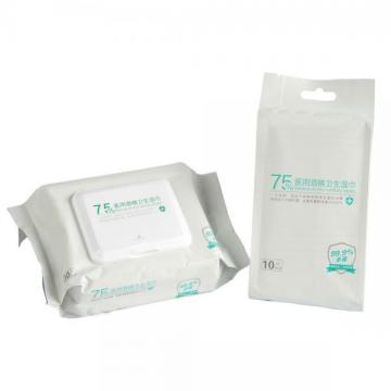 50pcs 75% Alcohol Prep Pads Wipes Clean And Sterilize Non-woven Wet Wipes