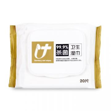 75% Alcohol Cleaning Wipes Non Woven Wipes Antibacterial Wet Alcohol Hand Wipes 60 Pcs / Bottle