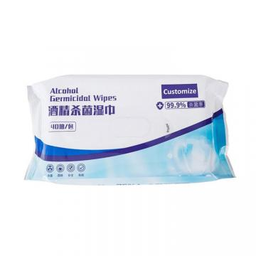 50PCS 75% Alcohol Wet Wipe Disposable Disinfection Prep Pad Antiseptic Jewelry Mobile Phone Cleaning Wipes