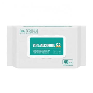 High Quality 50 Pieces 75% alcohol cleaning wipes