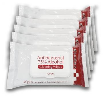 Pure Water Alcohol Free Unscented Disposable Wet Wipes for Cleaning