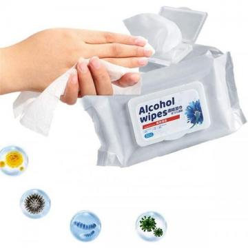 75% Alcohol Kill 99.9% Virus Non-Woven Wet Wipes Barrel Cleaning Disinfection Antibacterial Sanitizing Barrel Wet Wipes