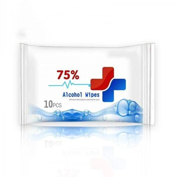 75% Custom Packaging Wholesalers Household Protective Antibacterial Disinfectant Alcohol Wet Wipes #3 image