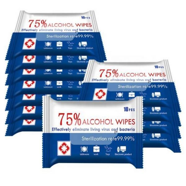75% Custom Packaging Wholesalers Household Protective Antibacterial Disinfectant Alcohol Wet Wipes #2 image