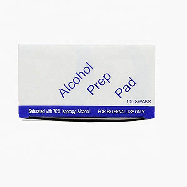 Direct Factory of Spunlace Non Woven Alcohol Prep Pad /Alcohol Wipes /Ethanol Alcohol Pad 60mmx60mm/60mmx30mm #4 image