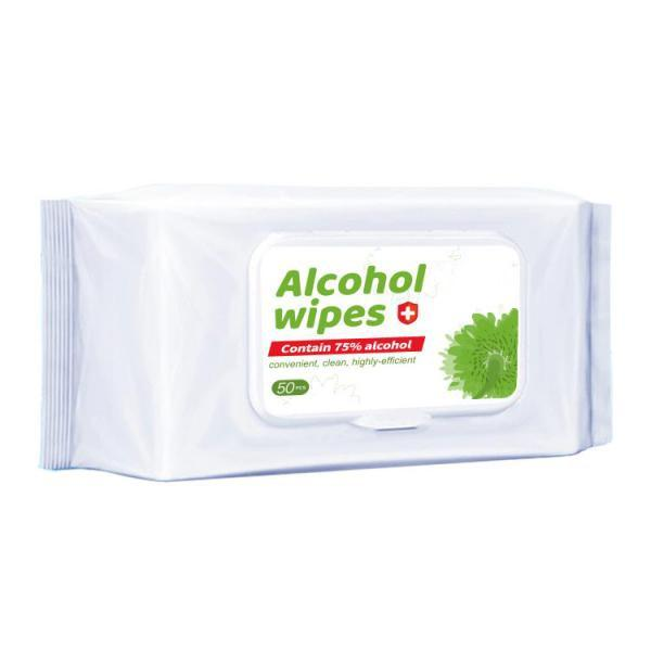 Wholesale in Stock 75% Alcohol Disinfectant Wet Wipes Hand Sanitizer Alcohol Disinfecting Wipes #2 image