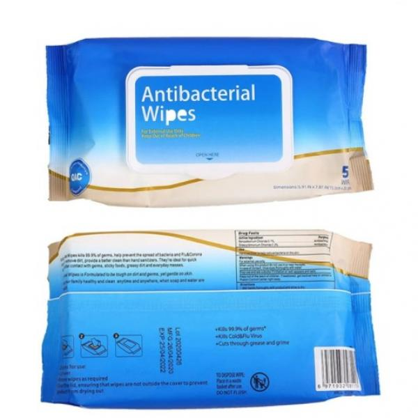 Single Packed 1pc 75% Alcohol Disinfectant Wipes Alcoholic Wet Disenfecting Wipes #3 image