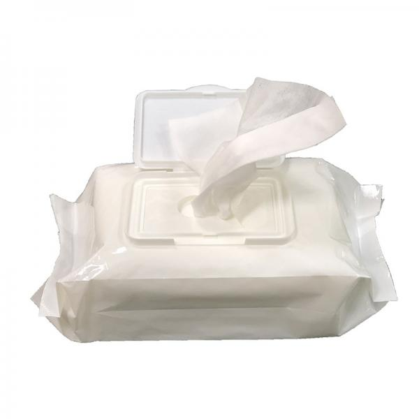 Cleaning OEM custom wet wipe lid alcohol free spunlace non woven fabric for wet wipes #3 image