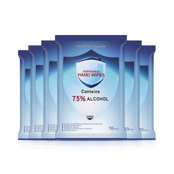 Medical Grade 70 Alcohol Antibacterial Desinfect Hand Wet Wipe Logo with Alcohol in Bulk #3 image