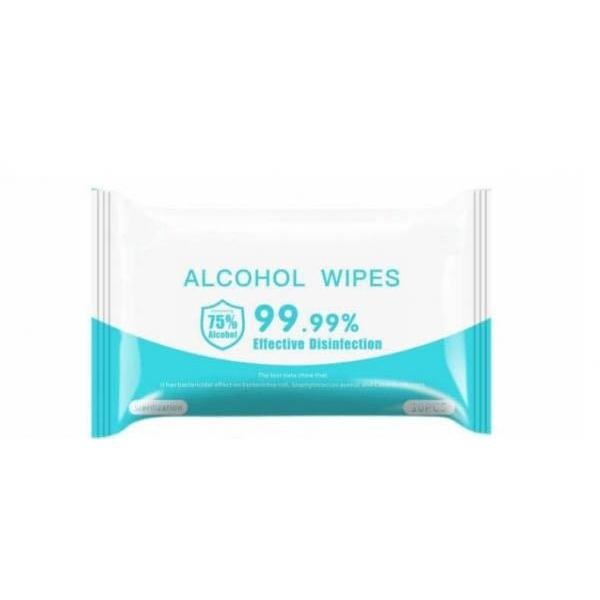 50pcs 75% isopropyl alcohol antibacterial disinfecting sanitizer cleaning hand medical wipes #3 image