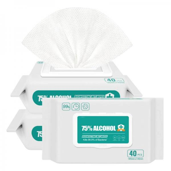 EPA Approved Bagged Hand Sanitizing and Surface Wipes with Atleast 75% Alcoholic Wet Tissue #1 image
