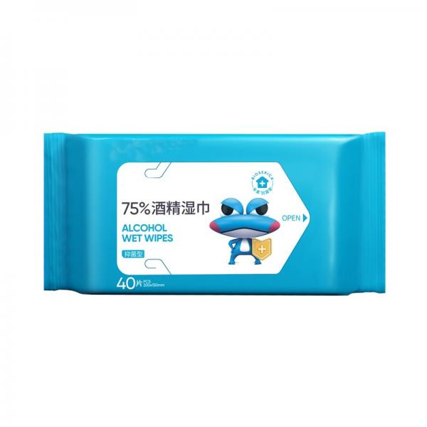 GMPC,ISO9001,CE certification medical use 75% wet alcohol pad wipes #2 image