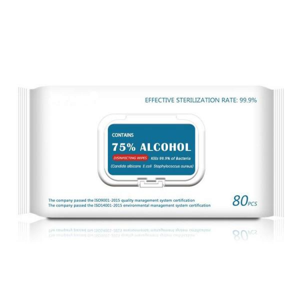 Disposable Antiseptic Cleansing Wipe Alcohol 70% Prep Pad Wipes for Disinfection Use #3 image