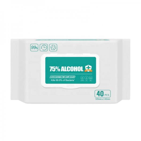Surface Disinfectant Hospital Grade 99% 70% 75% Ethyl Alcohol Ethanol Single Packed Clean Wet Wipe in Bulk #3 image